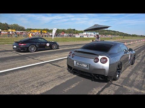 1000HP Nissan GT-R R35 vs 800HP BMW M5 F10 TTH TURBOLADER