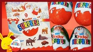 Kinder surprise - Oeufs surprises de Noël avec les animaux pour les enfants - Titounis