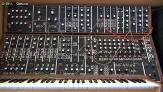 Moog System 55 冨田勲風 ②口笛の音色 Isao Tomita style whistle sounds