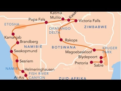 Southern Africa camperroute in 6 weeks