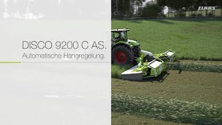 DISCO 9200 C AS. Automatische Hangregelung. / 2017 / de