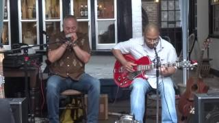 "Damon T & Mark Cole ""Streamline Train"" live @ New Inn Gloucester Blues Festival 2016"