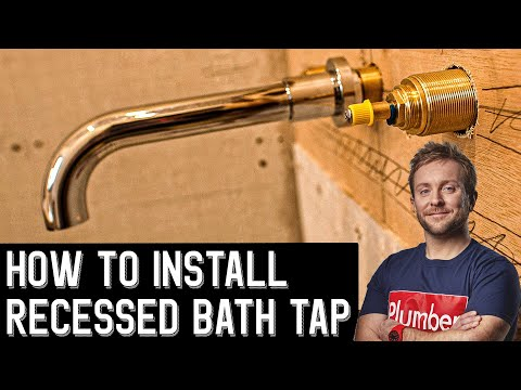 HOW TO INSTALL RECESSED WALL MOUNTED BATH TAP - Bathroom Renovation pt9