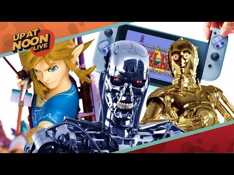 Up At Noon - A Zelda Statue, Nintendo Switch Joy-Con Colors, & Terminator Reboot? - Up At Noon Live!
