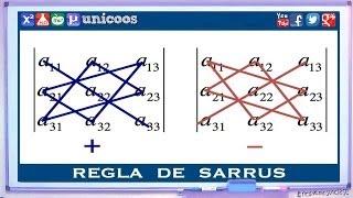Imagen en miniatura para Determinante 3x3 - Regla de Sarrus