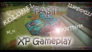 Tanki Online - Fast XP Gameplay w/ 123egypt123