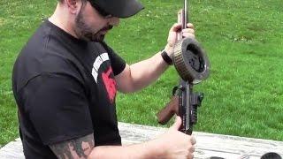American-180 Full Auto 22lr Submachine Gun AM-180 275 Round Drum Mag