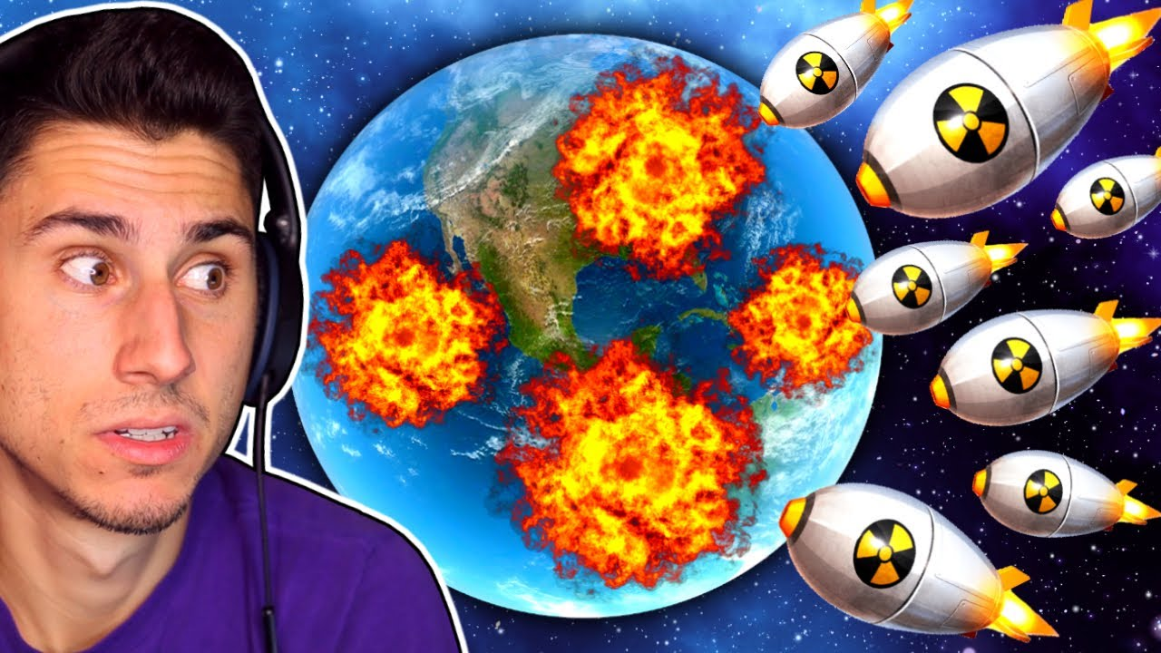 The Frustrated Gamer - I Shot 500 Nukes At Earth! | Solar Smash