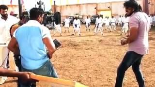 Bharjari kannada movie making    dhruva sarja width=