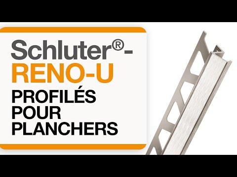 Comment installer un profilé de transition dans un carrelage au sol : Schluter®-RENO-U