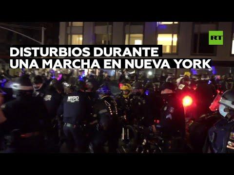 Varios detenidos en enfrentamientos entre Policía y manifestantes en Nueva York