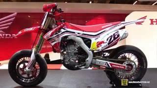 2016 Honda CRF450R Dani Pedrosa #26 Super Motard Racing Bike - Walkaround - 2015 Salon Moto Paris