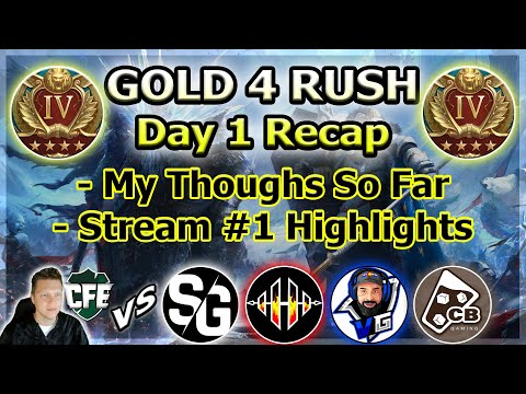 RAID Shadow Legends | Gold 4 Rush! | Day 1 Recap and My Thoughts So Far