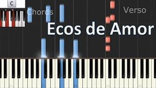 Como tocar ECOS DE AMOR - Piano Cover Tutorial - Jesse & Joy - MoroMusicPiano