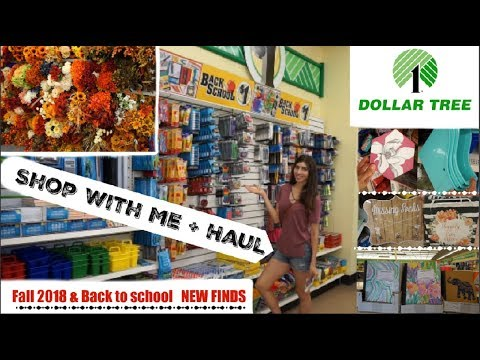 NEW! DOLLAR TREE SHOP WITH ME & HAUL | FALL Decor Finds & SCHOOL SUPPLIES | Momma From Scratch