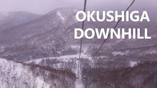 073. 早朝スキー ダウンヒルコース 志賀随一の雪質!奥志賀高原スキー場(8歳 2年生)