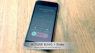 Hotline Bling Ringtone (Drake Tribute Remix Ringtone) • iPhone And Android Download Link