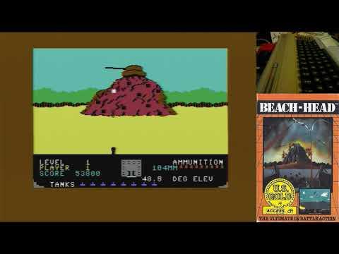 beach head c64 juegos epicos