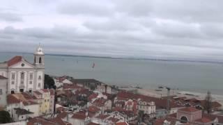 Lizbon Alfama Bölgesi Manzara 2015-Lizbon Gezisi