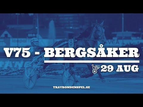 V75 tips Bergsåker jackpot - 29 augusti 2020