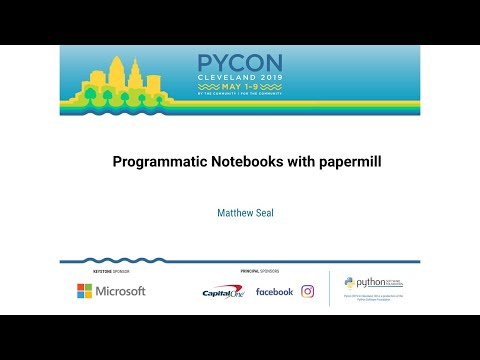 Programmatic Notebooks with papermill