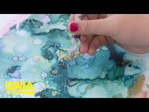 Artist repurposes IVF needles into art to normalize the conversation around IVF l GMA