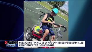 Roban el triciclo a un niño con necesidades especiales. La familia pide ayuda