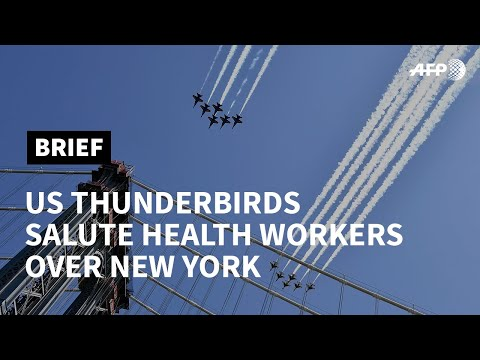 US Thunderbirds and Blue Angels salute frontline workers with flyover | AFP photo