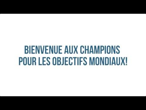 Les champions pour les objectifs mondiaux du PNUD