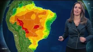 Tempo continua seco na maior parte do país