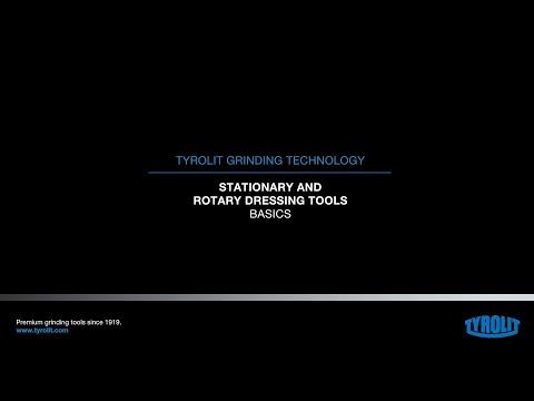 Tyrolit Grinding Technology: Dressing of precision grinding wheels