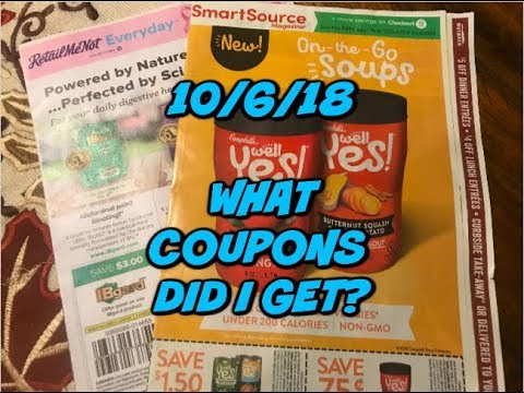 10/7/18 WHAT COUPONS DID I GET?   Say What???? No Arm & Hammer 🤷🏻♀️