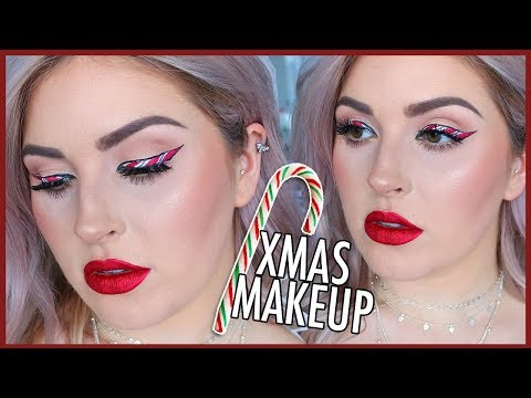 Chit Chat GRWM ? Candy Cane Eyeliner ? CHRISTMAS MAKEUP