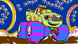 Blaze and the Monster Machines Coloring Book Learn Colors Coloring Pages