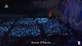 Special Effects at E3 Sony: Snow, Fire, Water, Pyro, Sparks!
