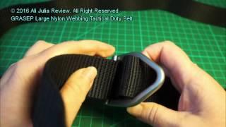 GRASEP Extremely Large Nylon Webbing Tactical Duty Belt
