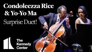 Yo-Yo Ma and Condoleezza Rice Perform Surprise Duet at The Kennedy Center