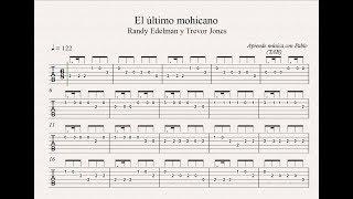 EL ÚLTIMO MOHICANO:  TAB (guitarra...) (tablatura con playback)