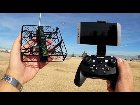 Z8W Wide Lens Selfie Cage Drone Flight Test Review