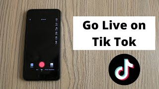 How to Go Live on Tik Tok Musically || New Musically Update