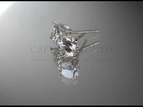 Earrings,round diamond,platinum