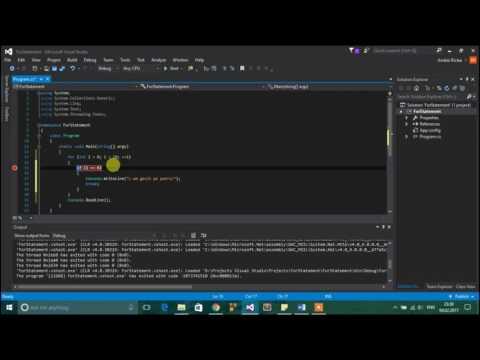 Tutoriale Video C# - despre instructiunea for -6-