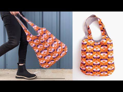 DIY REVERSIBLE BAG + FREE PATTERN •BOHO BAG •Beginner