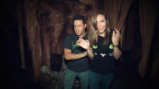 Andy and Jacqueline Brave the Haunted House width=