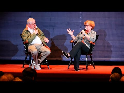 "Deborah Lipstadt discusses ""Denial"" with Errol Morris at Brandeis"