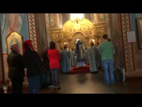 Orthodox church service in Kiev, Ukraine Київ, Україна