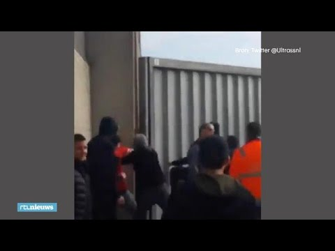 Beelden supportersrellen NAC - Willem II - RTL NIEUWS