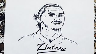 Como dibujar a zlatan Ibrahimovic   how to draw zlatan hibrahomivic   como desenhar o zlatan i