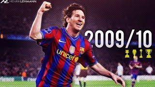 Lionel Messi ● 2009/10 ● Goals, Skills & Assists width=