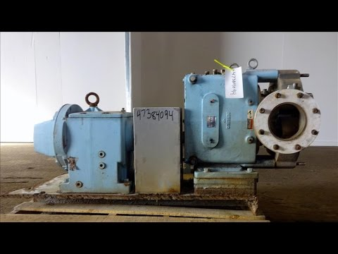 Used- Waukesha Rotary Positive Displacement Pump, Model 320 - stock # 47384094